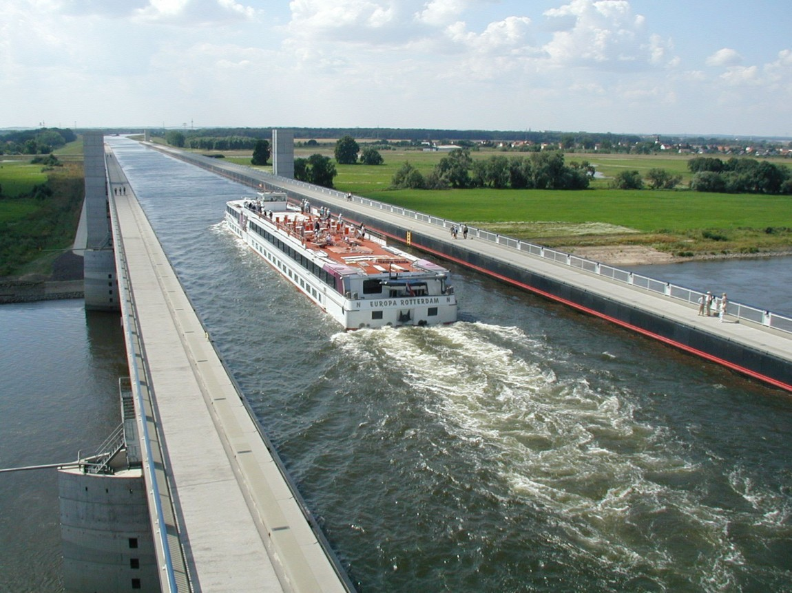 Magdeburg-Water-Bridge-Germany