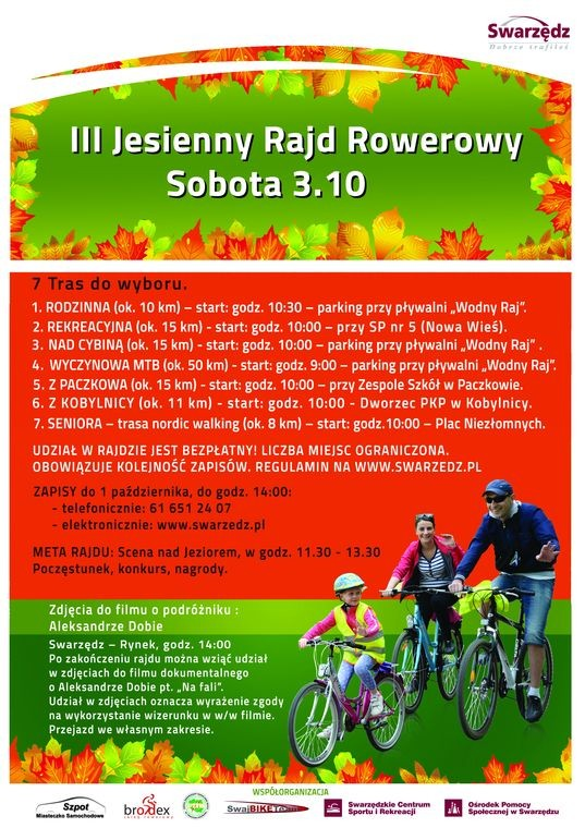 rajd rowerIII plakat